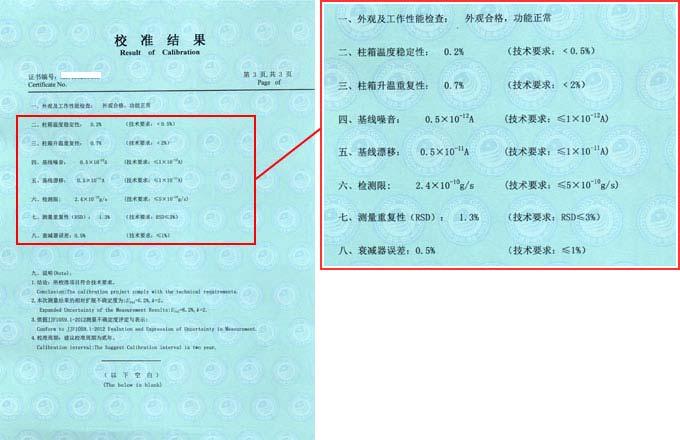 表面热损伤试验机校准证书结果页图片